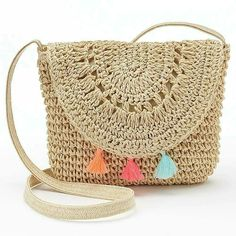 Crochet Cute Bags, Beach Bag, and Handbag Image Pattern for 2019 - Daily Crochet. - Bags and Purses 👜 Bag Crochet, Crochet Shell Stitch, Crochet Handbags, Crochet Purses, Purse Patterns, Crochet Patterns, Crochet Ideas, Knitting Patterns, Girls Bags