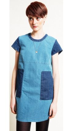 Patch Denim Andy Dress – Loup