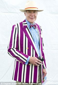 Worn with pride: David Miles, 67, at the Henley Royal regatta British regatta blazers http://www.dailymail.co.uk/femail/article-2356897/Blazer-glory-Men-make-style-statement-jackets-Henley-Royal-regatta-dont-look-closely-stains-badge-honour.html