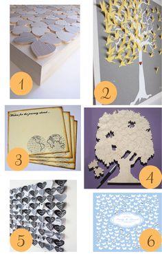 Ashy Designs on Polka Dot Bride!  Butterfly Wedding Guest Book Alternative Poster
