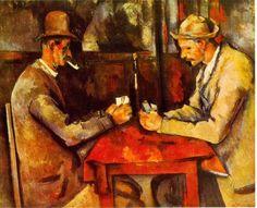 """Ma si trattava appunto di figure geometriche, gente che non avrebbe mai preteso di essere scambiata per vera. Sarebbe come se I giocatori di Cezanne ci facessero l'occhiolino dalla tela dicendoci """"Siamo veri"""", dopo che gli impressionisti hanno spazzato via disegno e prospettiva nel 1874 trasformando la tela in televisione...Geniale! http://piergiuseppecavalli.com/2017/01/31/geniale/"""