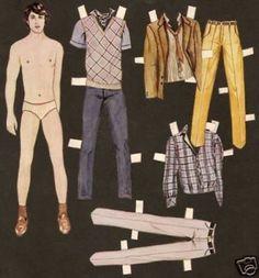 paper dolls men | Swedish Magazine Column MAle Paper Dolls collection on eBay!