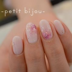 Petit bijou delicate pastel pink with sparkle and jewels nail art spring summer nails 2017