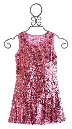 Lipstik Girls Pink Sequin Party Dress for Girls