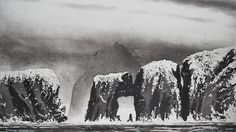 Flannan Islands by Norman Ackroyd Ra exhibiting artist at North House Gallery Manningtree, Essex Norman Ackroyd, Anthony Caro, Landscape Concept, Mc Escher, Royal College Of Art, Encaustic Painting, Linocut Prints, Art Festival, Printmaking