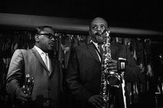 Ben Webster and Roy Eldridge perform at McKie's Disc Jockey Lounge, Chicago, Jazz Artists, Jazz Musicians, Roy Eldridge, All That Jazz, Jazz Blues, Love Affair, 1960s, Musicals, Legends