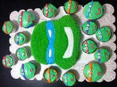 Teenage Mutant Ninja Turtles cake and cupcakes Cupcakes for Max to take to school
