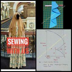 Pola hijab - Her Crochet Fashion Cover, Fashion 2020, Dress Sewing Patterns, Clothing Patterns, How To Wear Hijab, Niqab Fashion, Blouse Batik, Hijab Cartoon, Hijab Fashion Inspiration