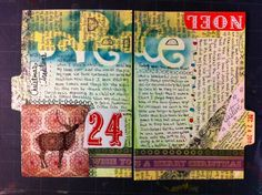Holiday Art Journal Page #24 -page breakout