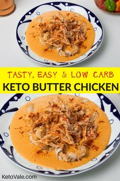 Easy, Tasty and Low Carb Keto Butter Chicken Recipe via @ketovale