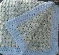 Crochet Baby Blanket ~ Color Edging Inspiration