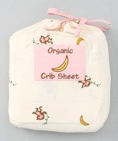 Counting sheep and being pampered with organic cotton lie ahead when sleepyheads cuddle up on this luxuriously soft crib sheet. 27'' W x 57'' H x 6.5'' D100% organic cottonMachine wash; tumble dryImported