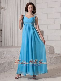 Baby Blue Empire Straps Beaded Decorate Shoulder Elegant Custom Made 2013 Prom Gowns- $134.49  http://www.fashionos.com  prom dress on sale | free shipping all over the world | online prom dress store | sweetheart beaded prom dress | inexpensive prom dress for your pageant | floor length prom dress with beading | premiere prom | prom dress for fashion show | cheap plus size prom dresses | designer dress for you |