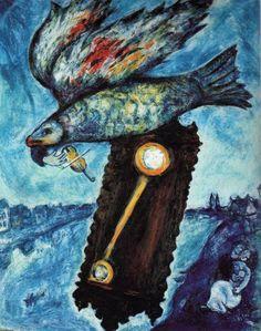 """""""Tempo é um Rio..."""" - Marc Chagall Pintor e gravurista russo-francês (1887-1995)"""