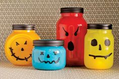 Jar-o'-lanterns - Halloween #DIY How-To!