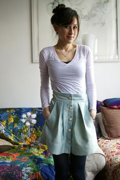 I've been seeing all kinds of Kelly skirts all over Pinterest for ages. On Friday I went to the fabric store for some thread and somehow left with the Kelly skirt pattern. Whoops. Then I dug …