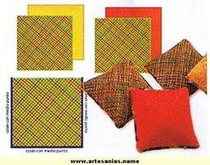 Resultado de imagen para telar cuadrado Macrame, Weaving, Diy, Google, Home, How To Make Pillows, How To Knit, Fabrics, Rugs