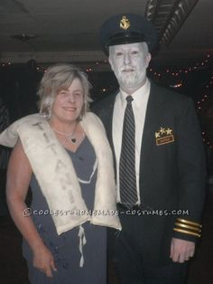 This frozen Titanic costume started when I had a Heart of the Ocean Necklace then I knew I wanted to be Rose. I borrowed a prom dress from a friend. Cool Couple Halloween Costumes, Hallowen Costume, Halloween Ii, Halloween Costume Contest, Cute Costumes, Halloween Party Decor, Adult Costumes, Halloween Ideas, Costume Ideas