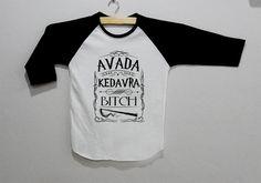Avada Kedavra Bitch Harry Potter Long Sleeve Tee Shirt T-Shirt Top Unisex Size on Etsy, $17.00