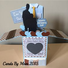 UNIQUE – Card In A Box – Father's Day, Love You, 3D, Handmade