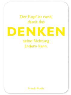 Postkarte CEDON Kollektion Picabia Denken