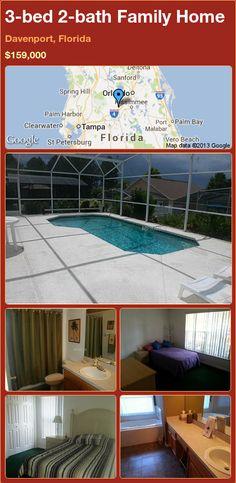 3-bed 2-bath Family Home in Davenport, Florida ►$159,000 #PropertyForSale #RealEstate #Florida http://florida-magic.com/properties/78044-family-home-for-sale-in-davenport-florida-with-3-bedroom-2-bathroom