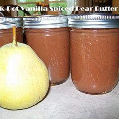 Crock-Pot Vanilla Spiced Pear Butter Recipe on Yummly Peach Butter, Apple Butter, Nut Butter, Pear Recipes, Fall Recipes, Ic Recipes, Fruit Recipes, Delicious Recipes, Canning Recipes