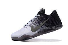 58cf05bae8b 2016 Nike Kobe 11 XI Elite Low Mens Basketball Shoes White Gray Black  Sneakers Online Cheap