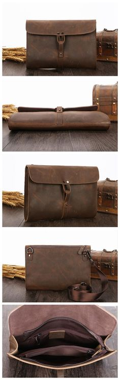 Browse all products in the Custom Handmade Leather Bag category from MoshiLeatherBag - Handmade Leather Bag Manufacturer. Handmade Leather Wallet, Leather Gifts, Handmade Bags, Leather Art, Leather Design, Ipad Bag, Men's Wallets, Leather Portfolio, Men Gifts