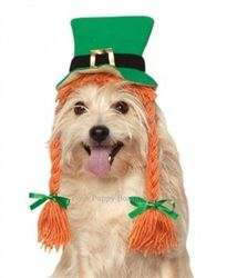 4a9b2bc701d St. Pattys Day Hat with Braids!  dogs  puppy  pets  puppylover. www. poshpuppyboutique.com