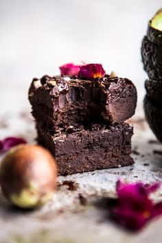 Fudgy Avocado Brownies with Chocolate Fudge Frosting.