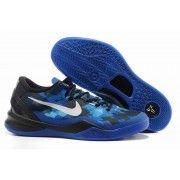 Nike Zoom Kobe VIII Mens Basketball Shoes Black Blue White $88.90 http://www.blackgoto.com/nike+zoom/