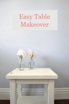 Easy Table Makeover with step by step directions #decoartprojects #chalkyfinish