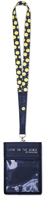Limes or Lemons - Navy Blue Key Lanyard with Detachable Card Name Pouch Life Touch, Pouch, Wallet, Bar Accessories, Quality T Shirts, Limes, Navy Blue, Wedges, Key
