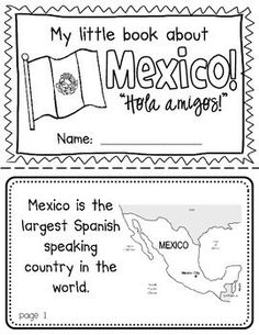 Mexico Booklet (a country study!)-- Use during social studies units about countries around the world! TeachersPayTeachers - follow my profile for more and visit my website