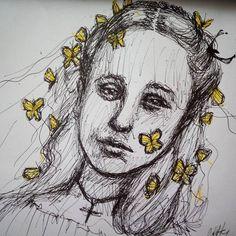 Card Stock, Ink, Watercolor Painting, Drawings