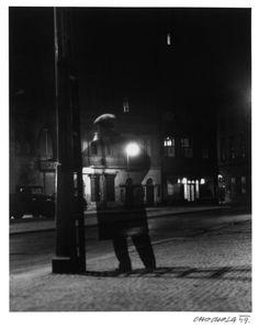 Václav Chochola :: 'Nightwalker', selfportrait, long exposure with tripod, 1949