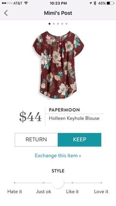 Papeemoon Holleen keyhole blouse