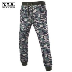 e48b6d6194ae Free Shipping Camouflage Print Embellished Comfortable Casual Pants For Men  Slim Fit Lace Up Autumn Winter Trousers Men Roupas-in Casual Pants from  Men s ...
