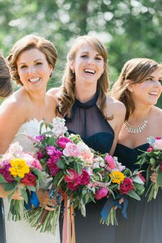 Bridal party: http://www.stylemepretty.com/georgia-weddings/douglasville/2015/03/20/whimsical-georgia-summer-wedding/ | Photography: Rustic White - http://www.rusticwhite.com/