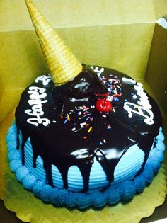 "8"" double layer Melting cone cake!  - Sweet! 702 10th Ave., Belmar, NJ  07719 (732)280-8889."