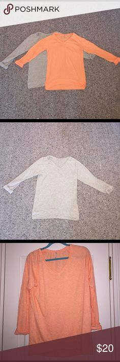 Color Thread Cotton long sleeve shirts These shirts are the same, just different color. They're super cozy to wear around and look great with jeans. Great condition. Scale 1-10: 9 color thread Tops Tees - Long Sleeve