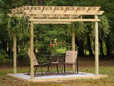 Learn how to build a simple wood pergola to create shade in your outdoor space with step-by-step instructions from HGTV Gardens.