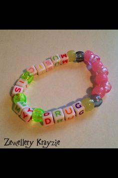 Music Is My Drug Kandi Bracelet Forsale In My Etsy Shop For £1.99 + Postage Uk Based Ships Worldwide x