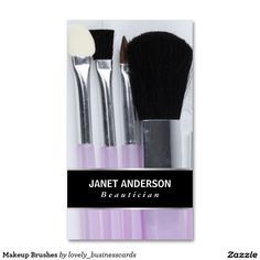Makeup Brushes Business Card #businesscards #makeupkit #makeupartist #makeup #makeupbrushes #professionals #businessowner #entrepreneur