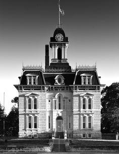 Chase County courthouse, Cottonwood Falls, KS.