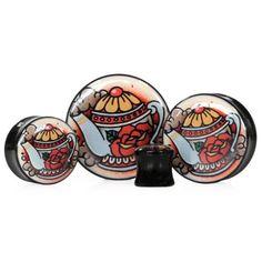 Teapot - Plug | UK Custom Plugs - Ear Gauges, Flesh Tunnels for Stretched Ears