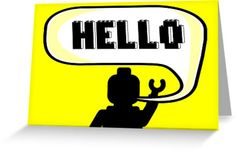 HELLO Greeting Card by Chillee Wilson from Customize My Minifig by ChilleeW