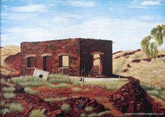 GEORGE HODGKINS - This old building was painted by my dad when we were exploring near the old Bamboo Creek goldmine around 1986. Bamboo Creek is northeast of Marble Bar the hottest town in Australia. One of my favourite paintings of his unfortunately destroyed in a house fire a few years ago. ... #landscape #artist #landscapeart #oiloncanvas #australianlandscape #australianlandscapepainting #australianlandscapes #in #instagramart #beautiful #picoftheday #instagood #worldofartists #galleries…