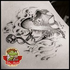 The best pirate manga character! Ace from One Piece... That's flame tattoo!  #tattoo #dotwork #manga #ace #onepiece #one-piece #eiichiro-oda #blackwork #tattooed